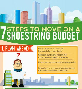 7 Steps To Move On A Shoestring Budget [Infographic]