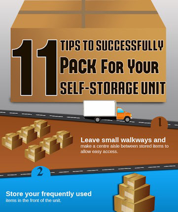 Tips To Successfully Pack For Your Self Storage Unit [Infographic]
