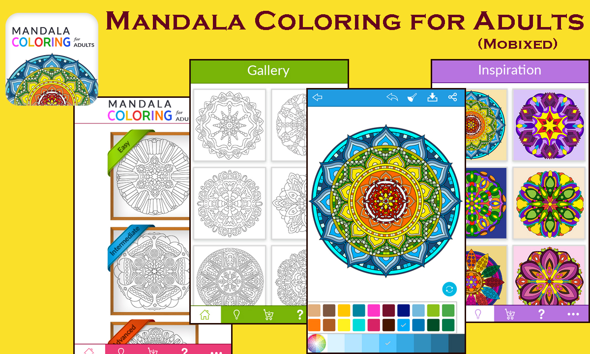 Nirvana for adults' souls – Mandala Coloring App by Mobixed