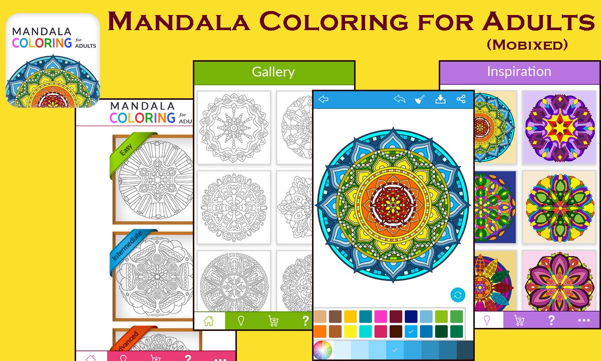 Nirvana for adults' souls – Mandala Coloring App by Mobixed