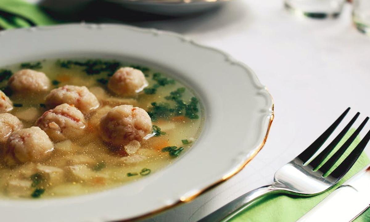 Garlic Grilled Chicken Soup